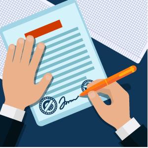 Заключение договоров на обслуживание
