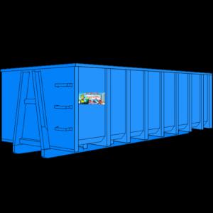 Мусорный контейнер 25 м3 закрытый купить, взять в аренду, вывезти